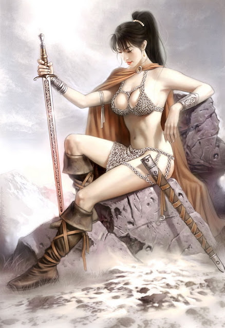 beauty anime cg girl sexy warrior princess sword Desktop wallpaper