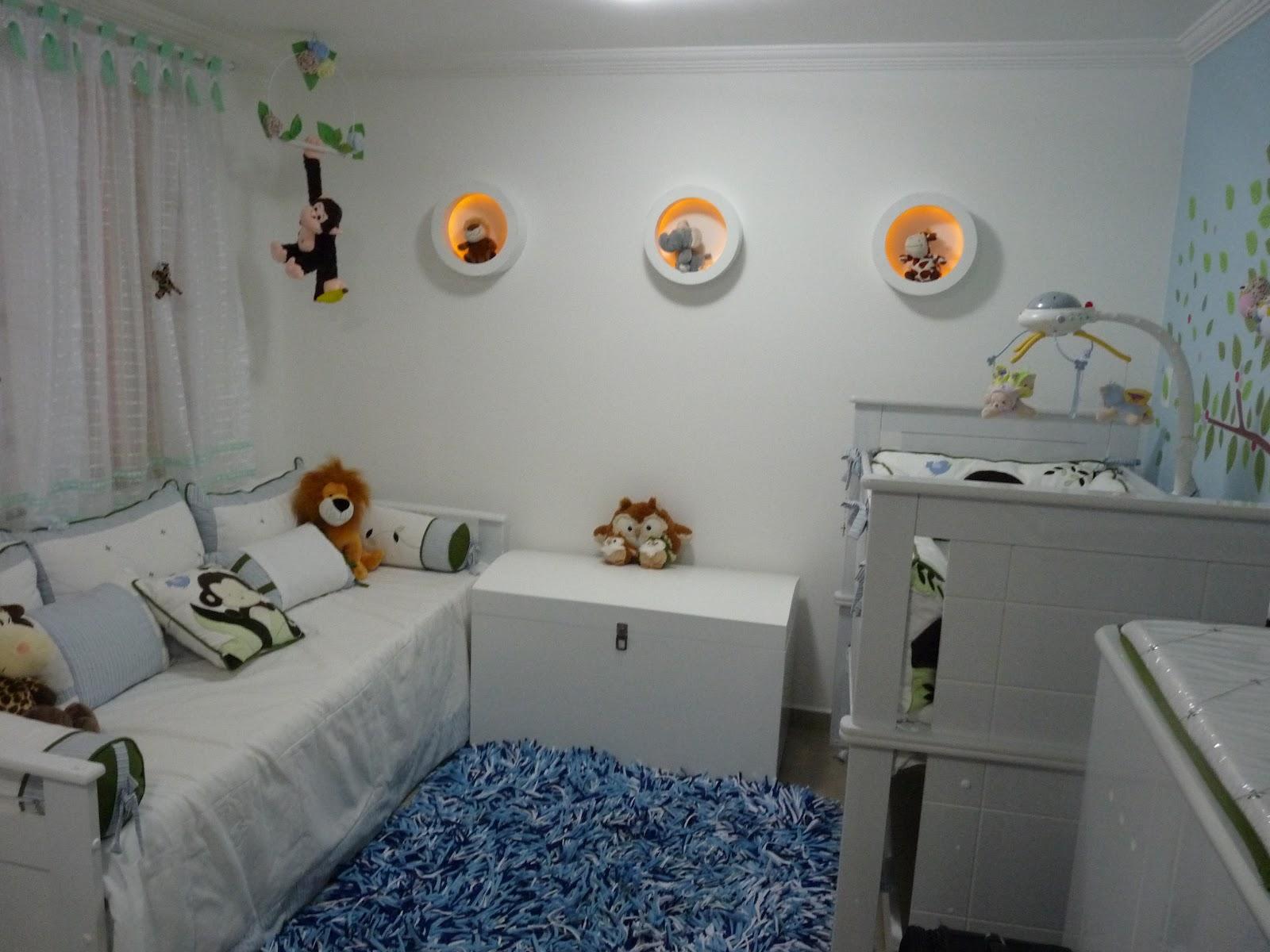 Nichos Para Quarto Safari Redival Com ~ Decoração De Quarto Infantil Com Nichos E Prateleiras