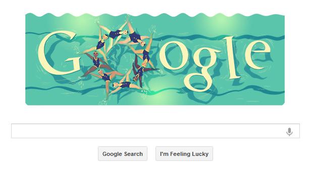 Google Logos - 2012 Swimming, logos 2012 swimming