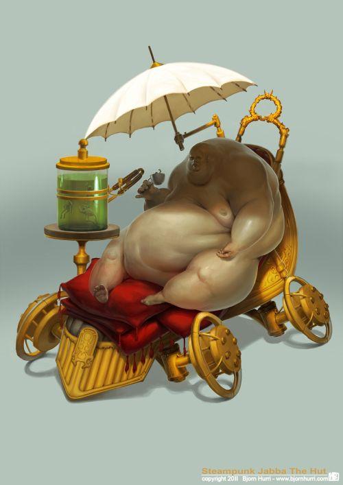 Bjorn Hurri ilustrações fantasia Star Wars steampunk Jabba the Hut