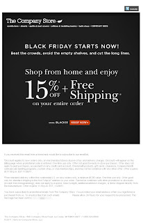 Click to view this Nov. 25, 2011 Company Store email full-sized