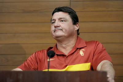 Ed Orgeron named interim head coach at USC. Things go from bad to worse.