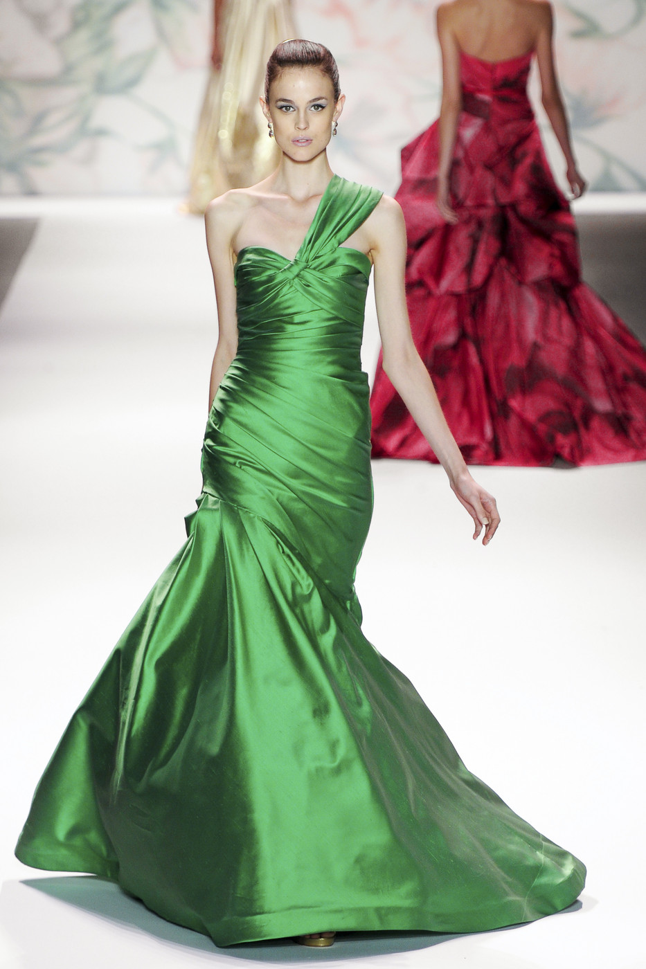 via fashioned by love | Monique Lhulilier Spring/Summer 2011 | green