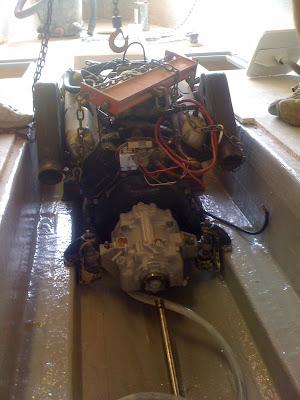 1981 23 Fish Nautique Restoration Motor Installed