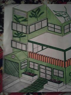 Frente da casa (desenho técnico)