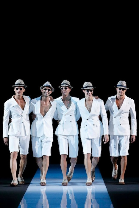 male models on the runway