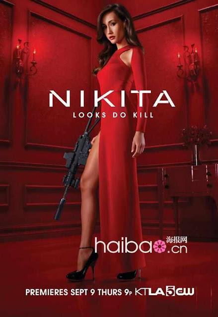 Actress Maggie Q in Nikita Film