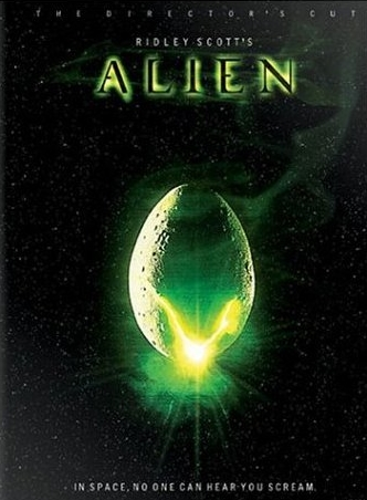 Ridley Scott's Alien poster with glowing egg