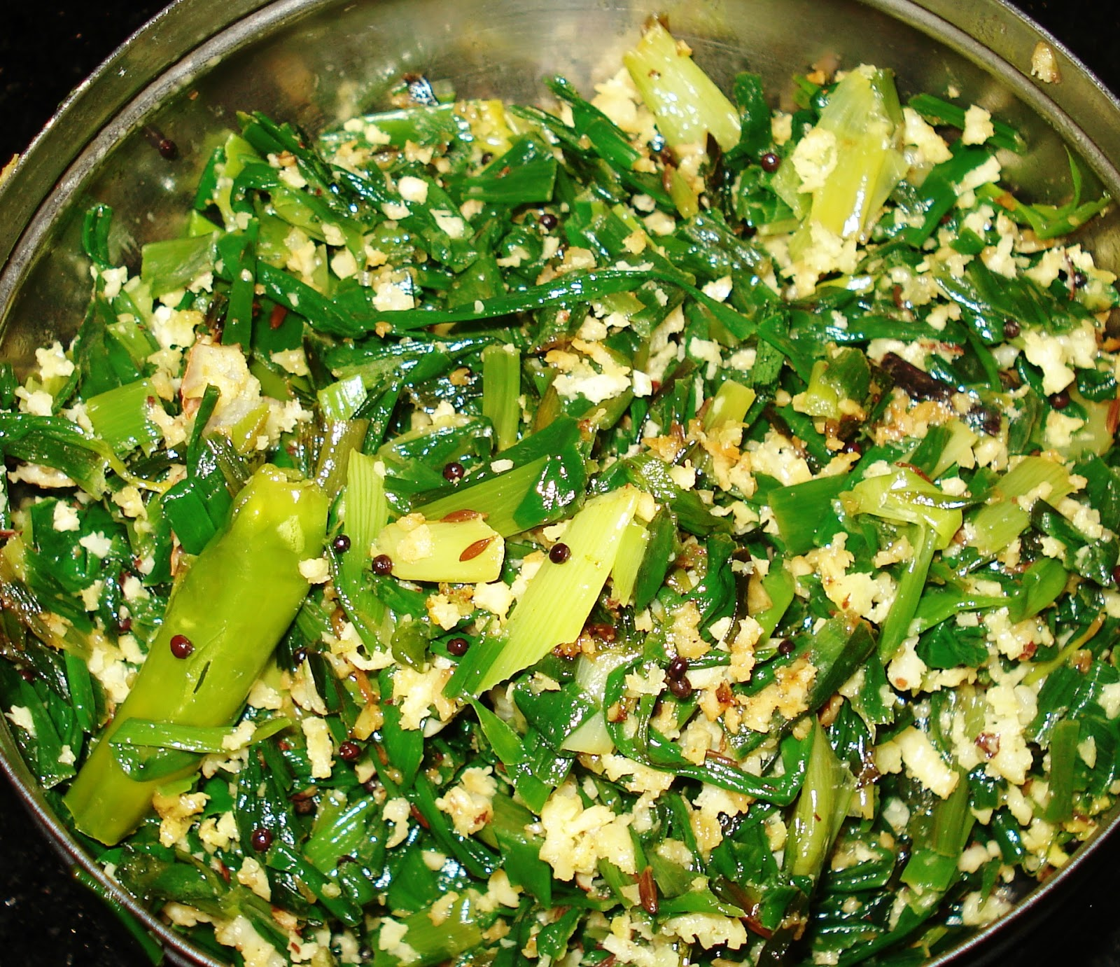 how to prepare spring onion curry in telugu