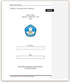 Download Contoh Format Raport SMA Sesuai dengan Buku Panduan Penilain Sekolah  2015-2016