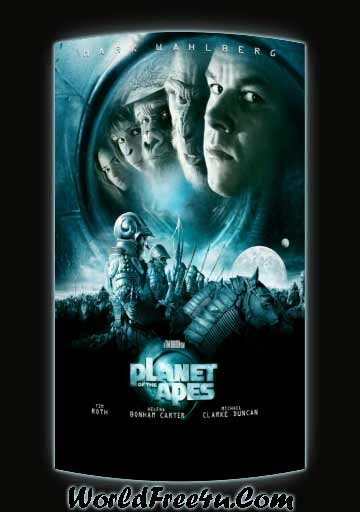 Poster Of Planet of the Apes (2001) In Hindi English Dual Audio 300MB Compressed Small Size Pc Movie Free Download Only At World4ufree.Org