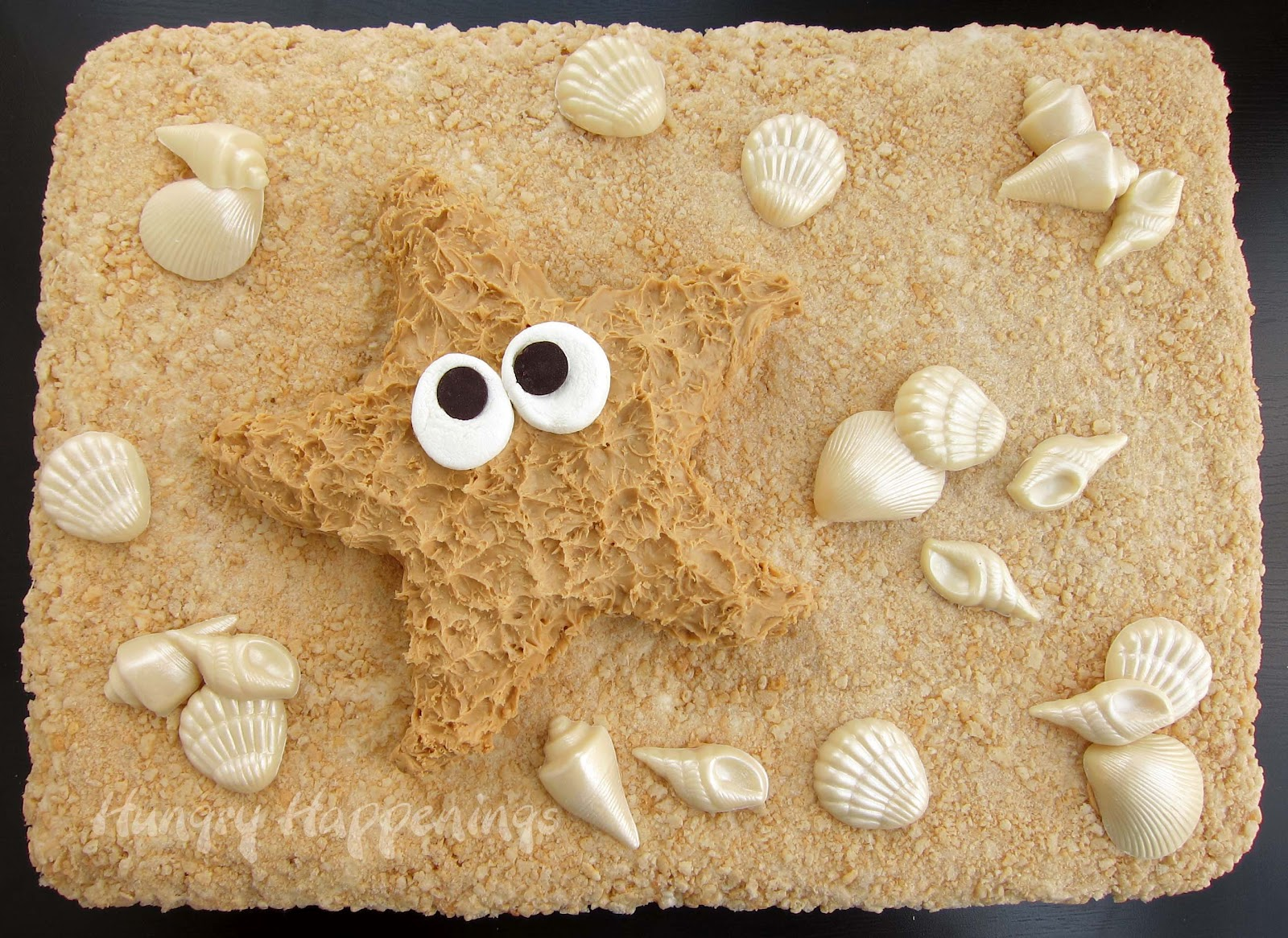 How to create peanut butter fudge starfish using a beach toy. - Hungry ...
