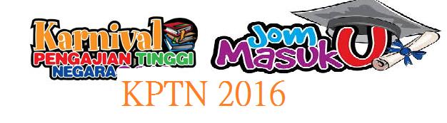 tarikh dan lokasi Karnival Pendidikan Tinggi Negara (KPTN) 2016