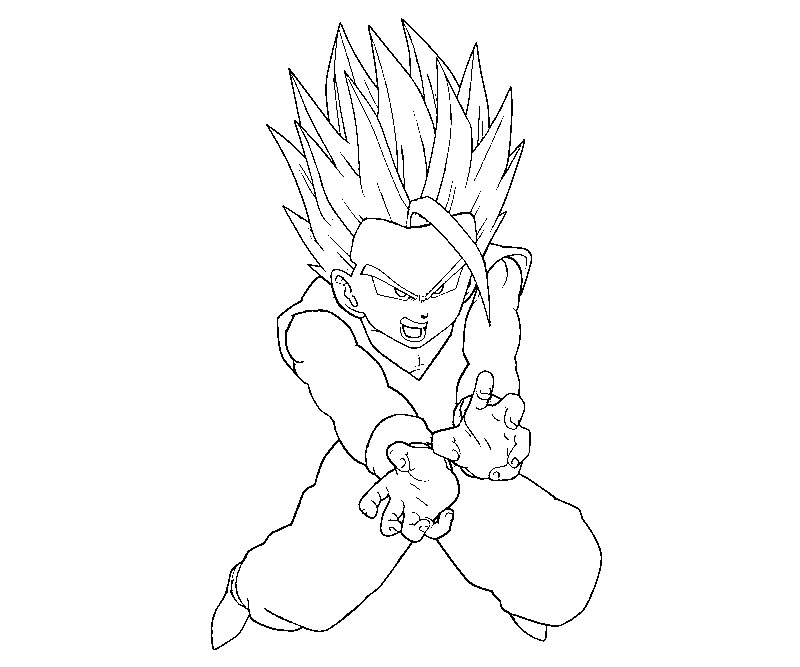 pin adult gohan colouring pages on pinterest