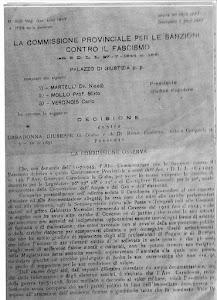 ROMA 19 MAGGIO 1947-SENTEMZA CONTRO GIUSEPPE CARADOMMA