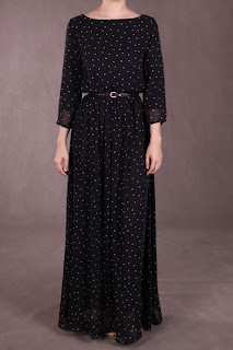 Chiffon Maxi Dress on Awek Popeye  Manage To Grab Pennny Chiffon Maxi Dress Mini Polka