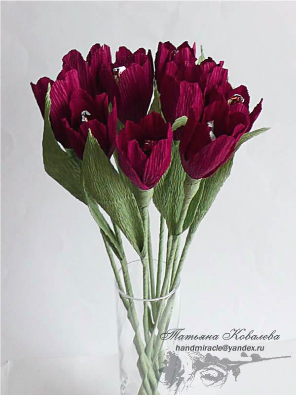 Конфетные букеты мастер класс тюльпаны