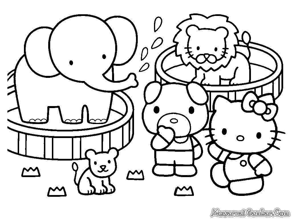 Mewarnai Gambar Hello Kitty Terbaru Dan Terupdate