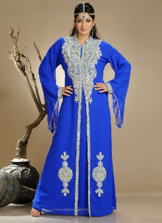 Here we are going to share with you bright color Kaftan such as Blue 3018e2f3a58