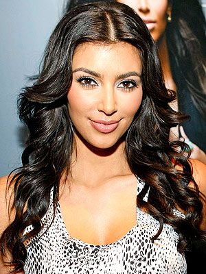 Kim Kardashian Hair Part