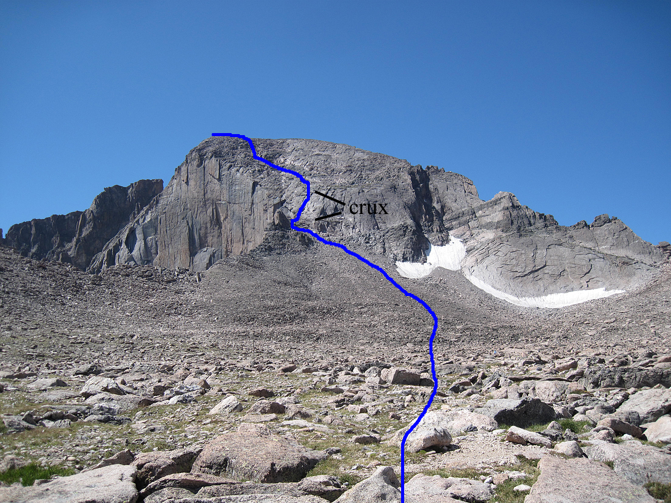 Colorado Mountaineering FEATURED ROUTE Longs Peak North Face Old