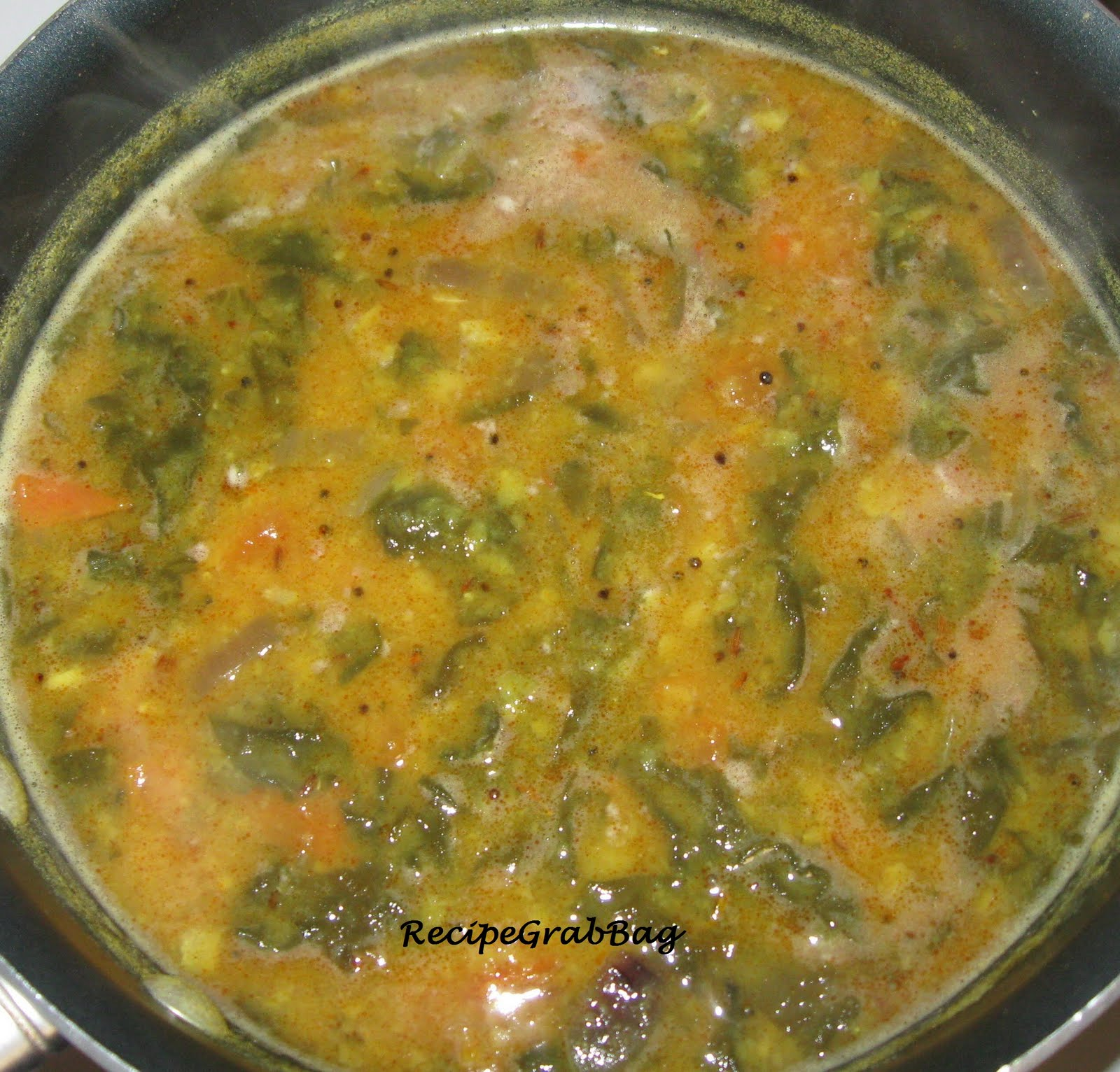 RecipeGrabBag: Dal Palak ( Lentils with Spinach)