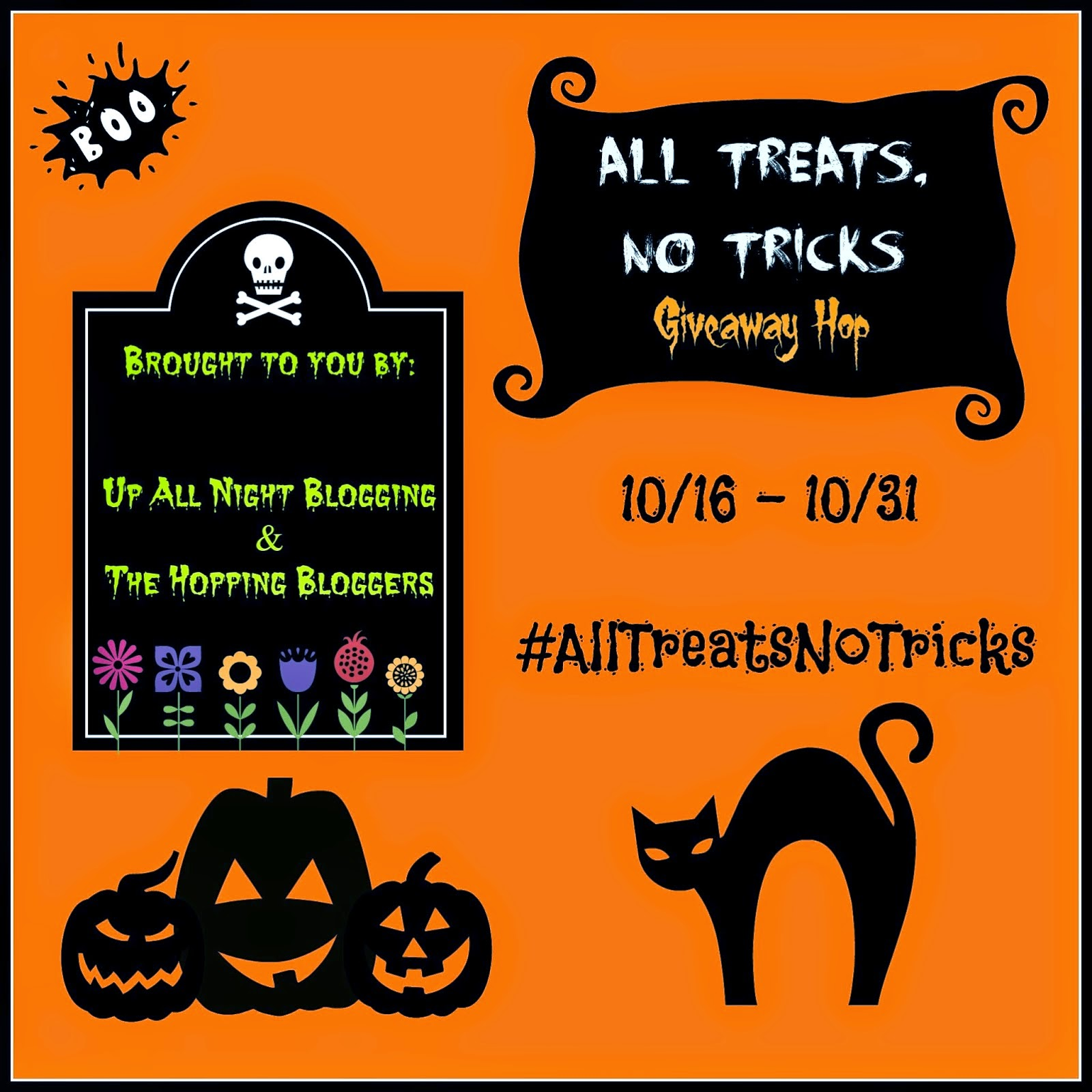 October's Giveaway: All Treats, No Tricks Giveaway Hop