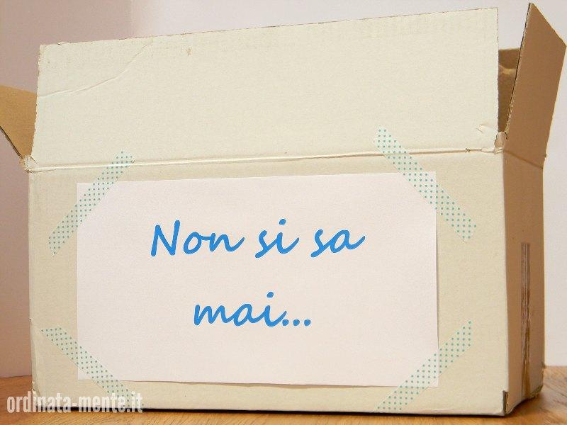 scatola decluttering