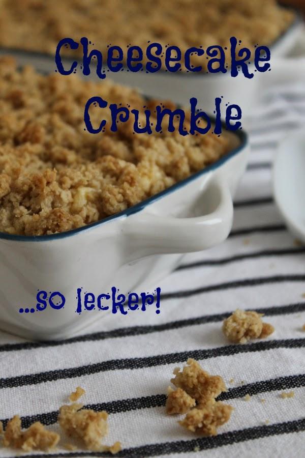 Cheesecake Crumble Pfirsich Foodblog Auflaufform Jamie Oliver