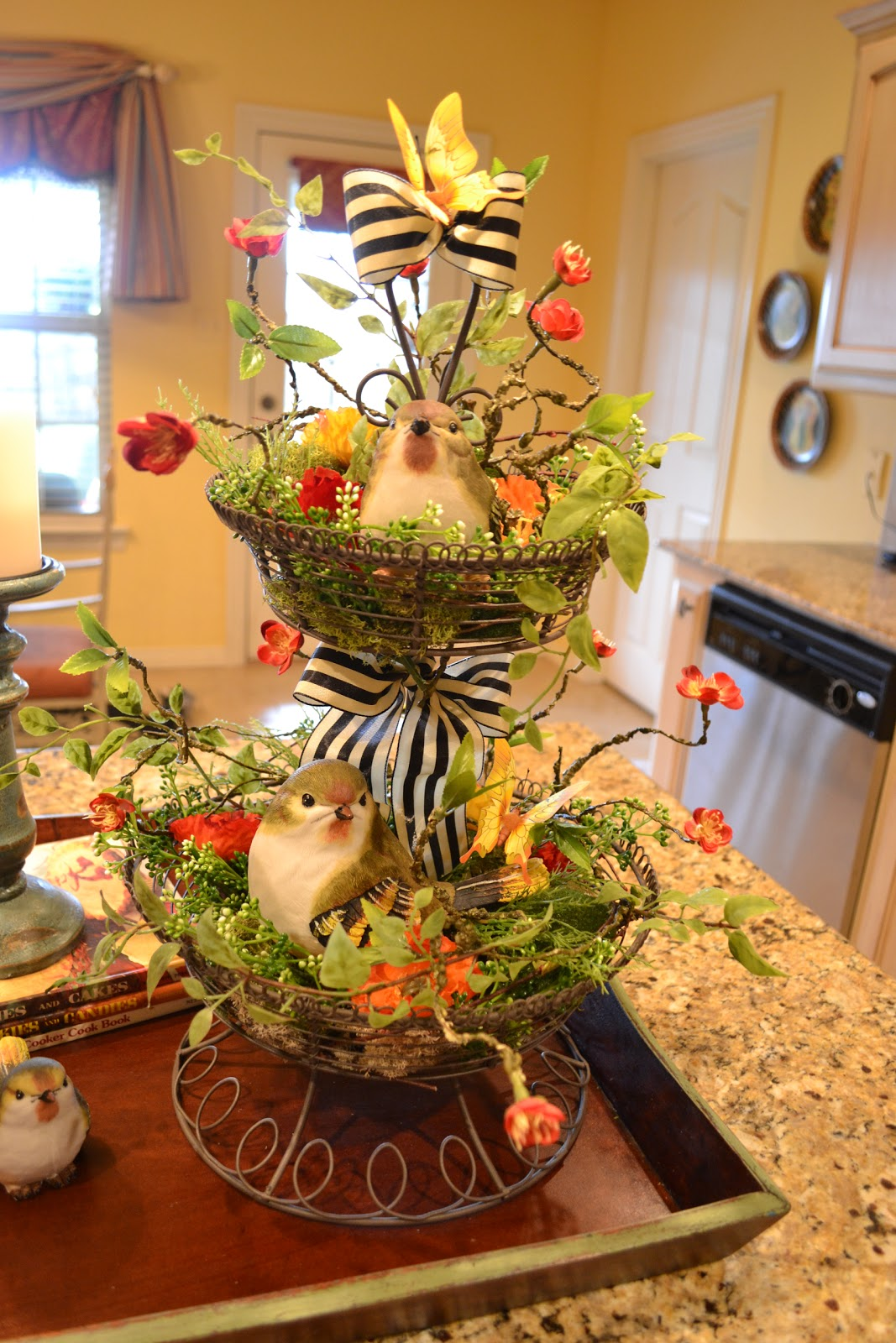 Kristens Creations Kitchen Island Vignette - Kitchen island centerpiece ideas
