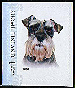 2005年フィンランド共和国 シュナウザーの切手