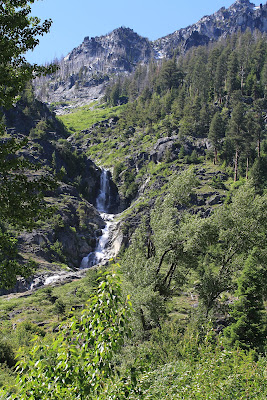 A Waterfall Seen from Ingalls Creek Originating from Enchantments