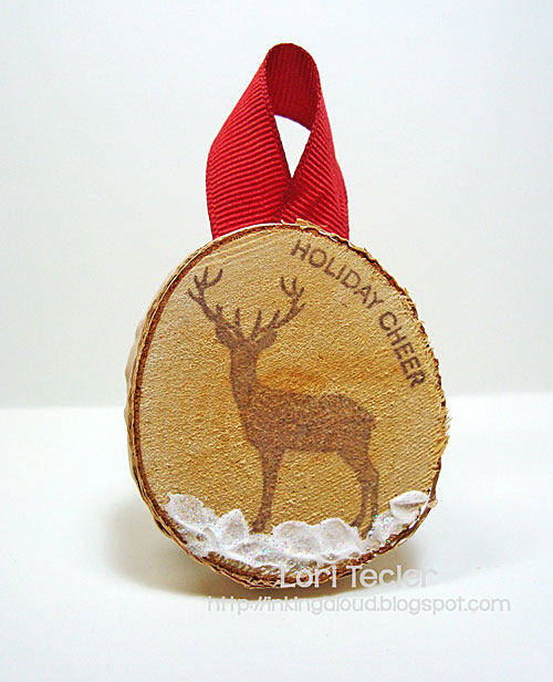 Winter Woodland Holiday Ornament-designed by Lori Tecler/Inking Aloud-stamps from Clear and Simple Stamps