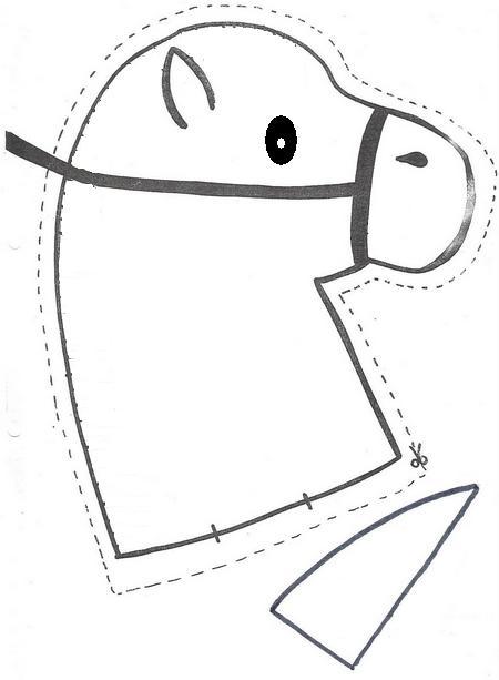 Moldes para hacer un caballo de palo - Imagui