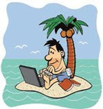 computer software on a deserted island