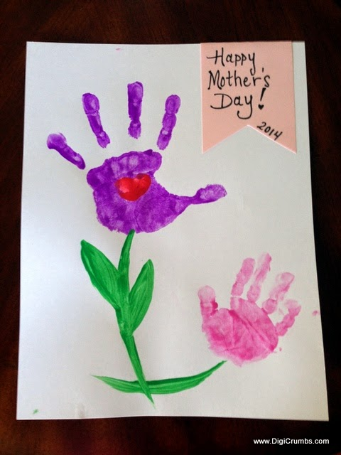 digicrumbs handprint flowers art project for mother 39 s day