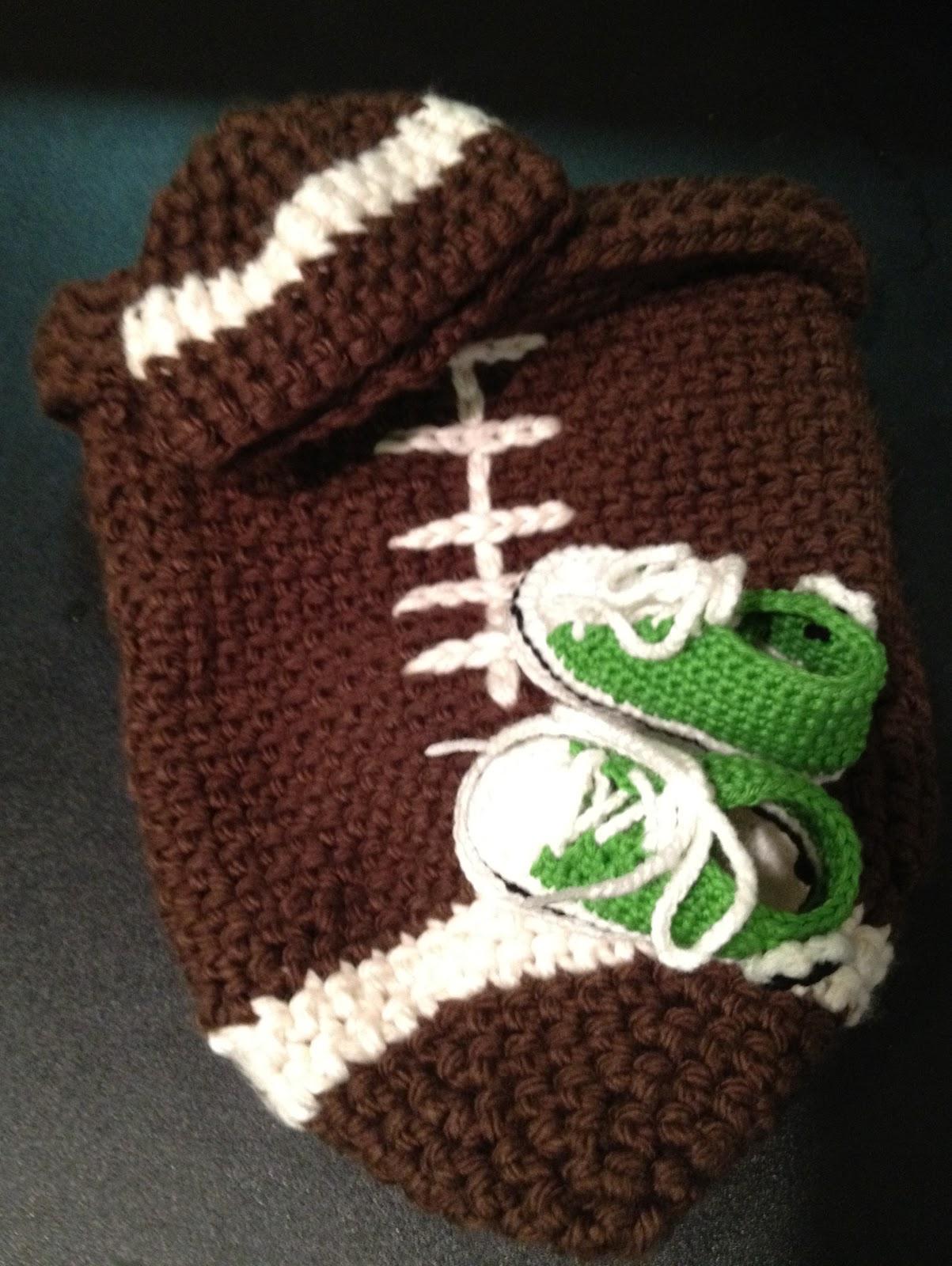 Crochet Baby Football Cocoon Pattern ~ Dancox for .
