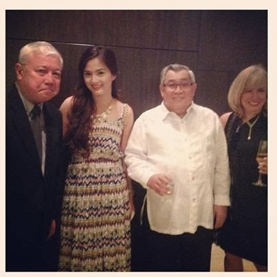 Deniece Milinette Cornejo with GMA-7 Atty. Felipe Gozon and Mr. Rod Cornejo
