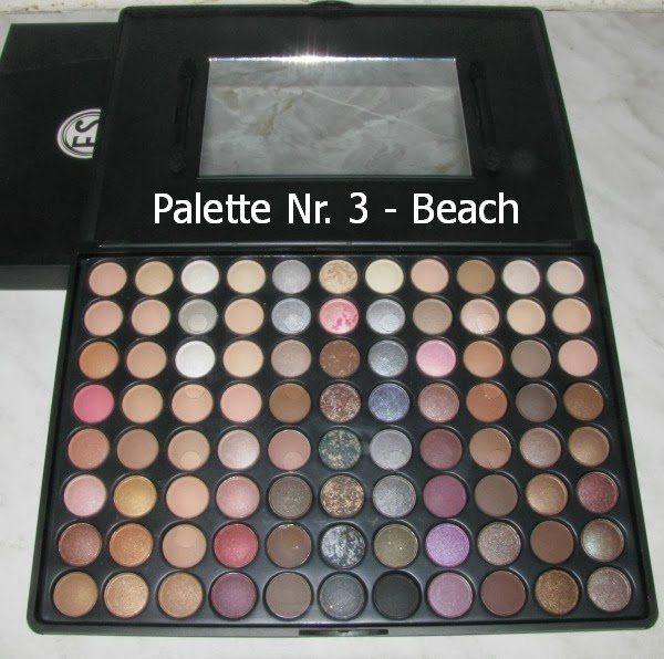 Gewinnspiel Palette Nr. 3 - BEACH:  88 Color Eyeshadow Make Up Blush Palette - Beach