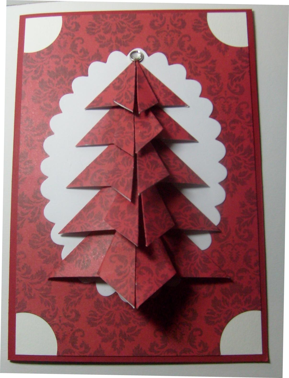 Night Owl Designs: Folded Christmas Tree Card Tutorial