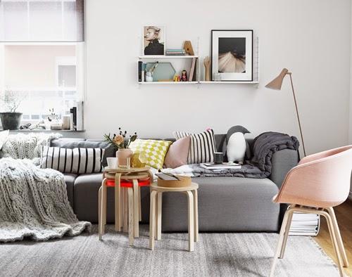 Hitta hem: Sätt stilen: Vardagsrum del 3   Skandinaviskt lekfullt
