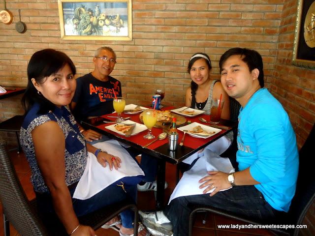 family at Giuseppe's Tacloban