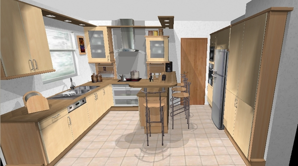 Plan maison facile gratuit for Cuisine 3d facile