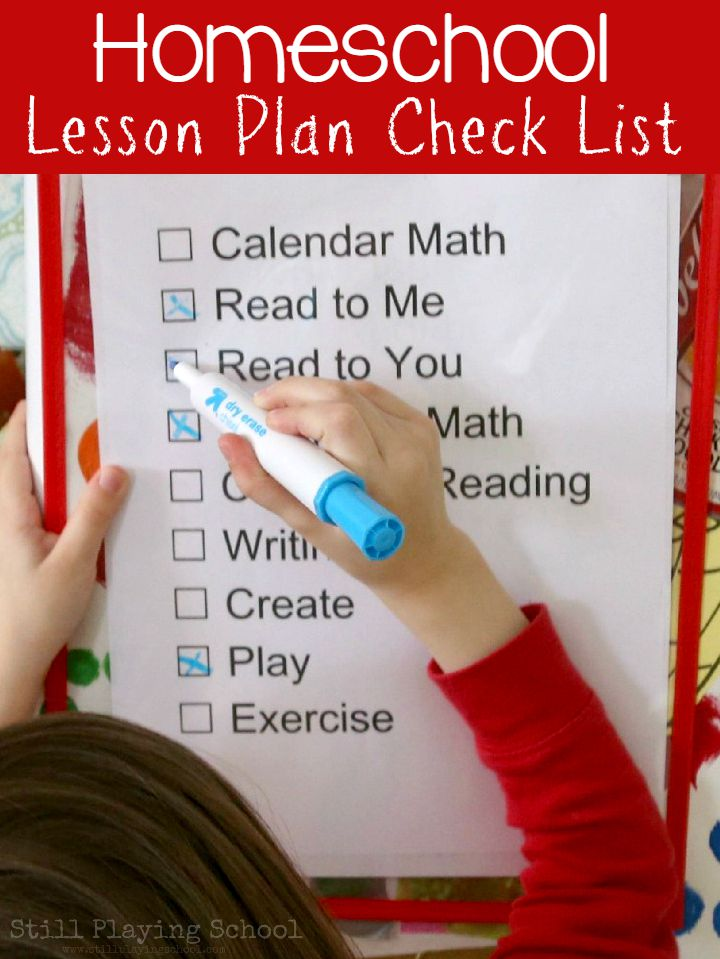 Homeschool Lesson Plan Schedule Check List Still Playing
