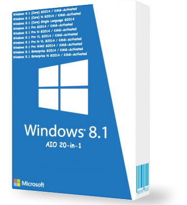 Windows 8.1 AIO 20in1 Pre-Activated July 2014 (x86) Mediafire