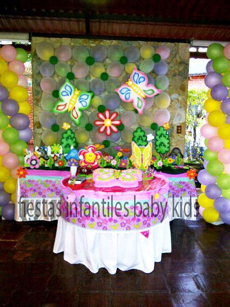 Fiestas Infantiles Baby Kids: Decoracion de Mariposa jardin