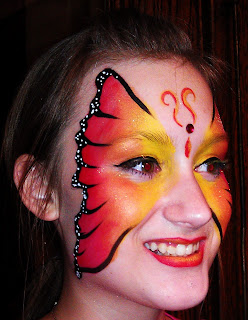 Full Face Butterfly Face Painting