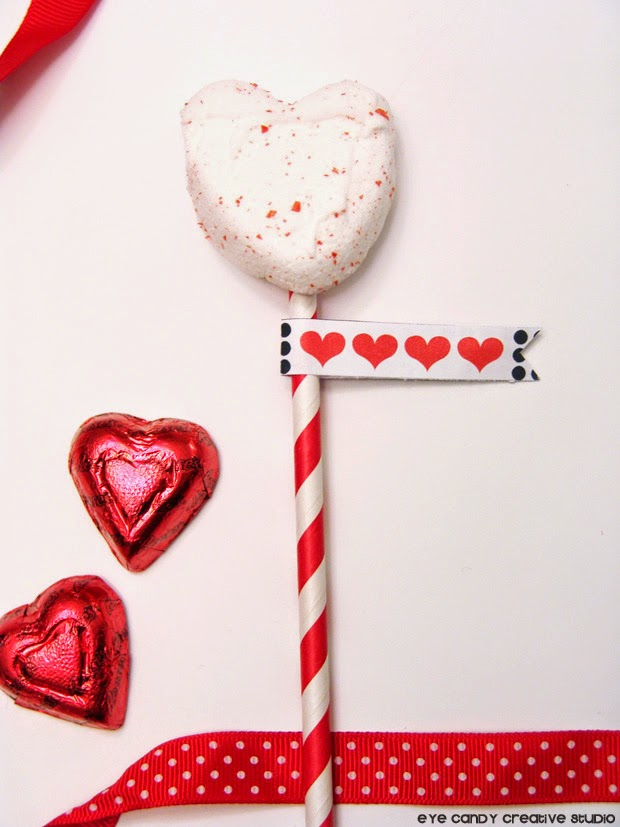 peeps marshmallow, valentines treat ideas, valentines flags, heart shaped chocolate