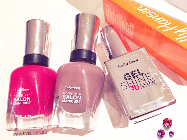 L i v i a sally hansen nail product review feat gel for A plus nail salon