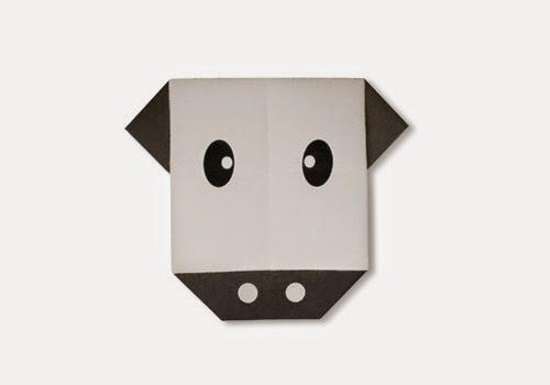 Hướng dẫn cách gấp mặt con bò bằng giấy - Xếp hình Origami với Video clip